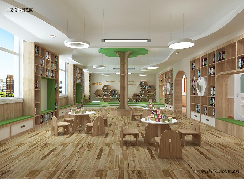 幼儿园  新乡冠英双语幼儿园-金石装饰设计案例        装修风格:欧式